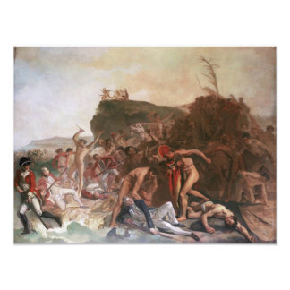 The Death of Captain Cook poster Photo Print
