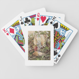 The Death of Cock Robin (w/c on paper) Bicycle Playing Cards