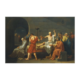 The Death of Socrates by Jacques-Louis David 1787 Canvas Print