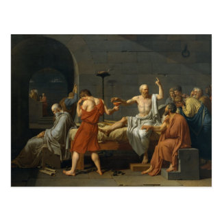 The Death Of Socrates Post Card