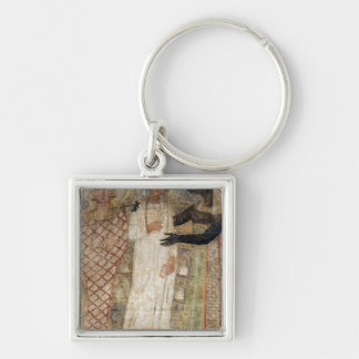 The deceased and his mummy protected by Anubis Key Ring
