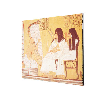 The deceased and his wife canvas print