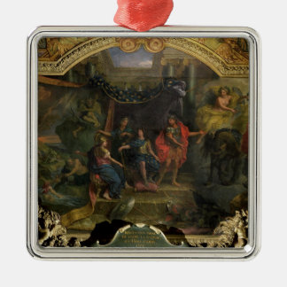 The Decision to Make War on the Dutch Silver-Colored Square Decoration