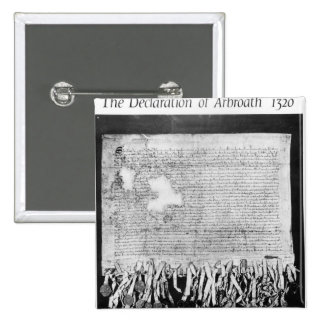 The Declaration of Arbroath, 6 April 1320 15 Cm Square Badge