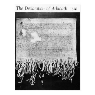 The Declaration of Arbroath 6 April 1320 Post Card