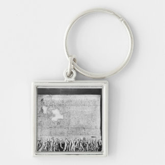 The Declaration of Arbroath, 6 April 1320 Silver-Colored Square Key Ring
