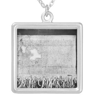 The Declaration of Arbroath, 6 April 1320 Square Pendant Necklace