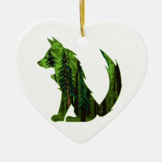 THE DEEP FOREST CERAMIC HEART DECORATION