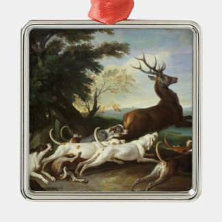 The Deer Hunt, 1718 Christmas Ornament