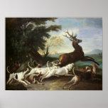 The Deer Hunt, 1718 Posters