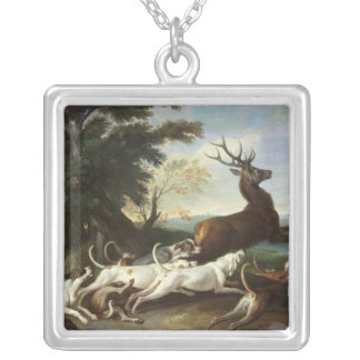 The Deer Hunt, 1718 Silver Plated Necklace