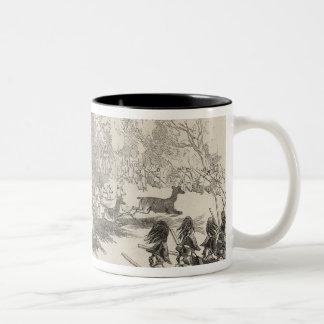 The Deer Shooting at Gotha Two-Tone Coffee Mug