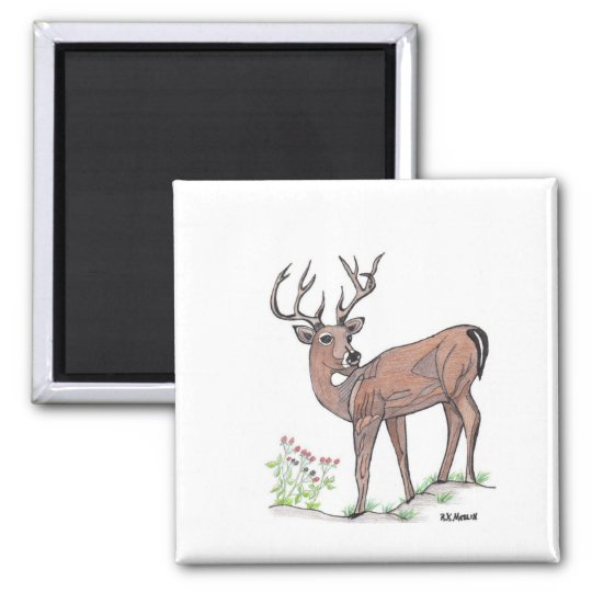The Deer Square Magnet