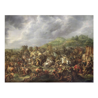The Defeat of Porus by Alexander the Great Postcard