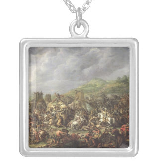 The Defeat of Porus by Alexander the Great Silver Plated Necklace