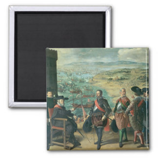 The Defence of Cadiz against the English, 1634 Square Magnet
