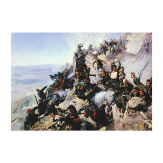 The Defence of the Eagle Aerie Canvas Print