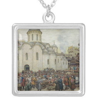 The Defence of the Town, 1918 Silver Plated Necklace