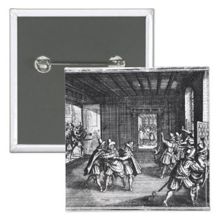 The Defenestration of Prague in 1618 15 Cm Square Badge