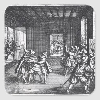 The Defenestration of Prague in 1618 Square Sticker