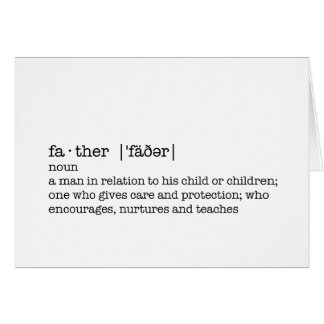The Definition of a Father; Best Dad in the World Greeting Card