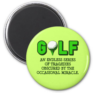 THE DEFINITION OF GOLF 6 CM ROUND MAGNET