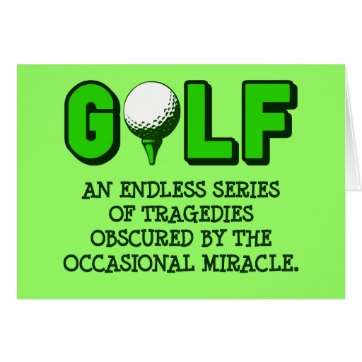 THE DEFINITION OF GOLF GREETING CARDS