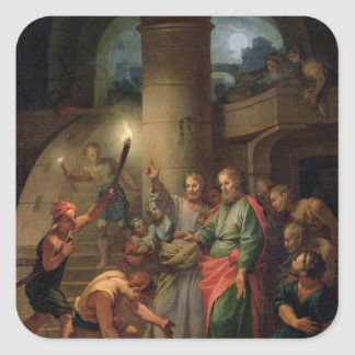 The Deliverance of St. Paul and St. Barnabas Square Sticker