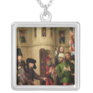 The Deliverance of the Prisoners, c.1470 Silver Plated Necklace