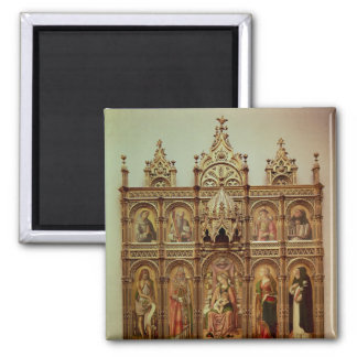 The Demidoff Altarpiece, 1476 Square Magnet