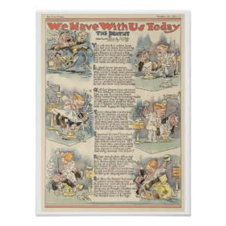 The Dentist, 1919 full page news paper cartoon Poster