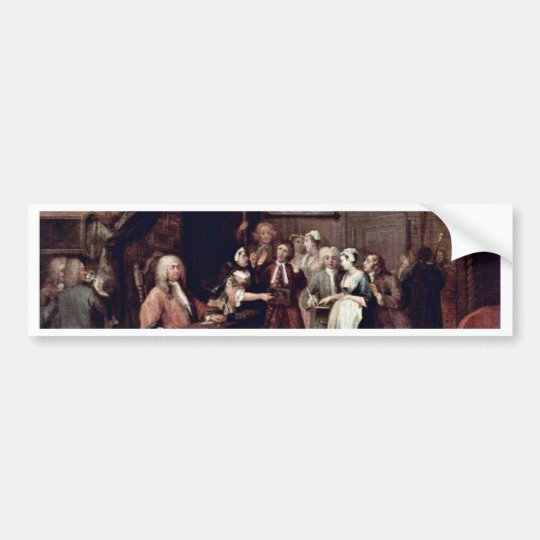 The Denunciation By Hogarth William (Best Quality) Bumper Sticker