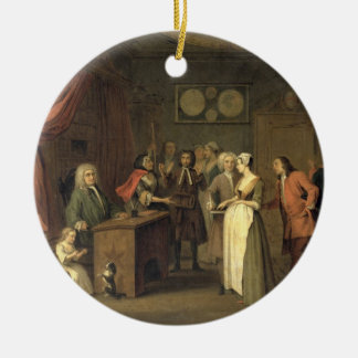 The Denunciation (oil on canvas) Christmas Ornament