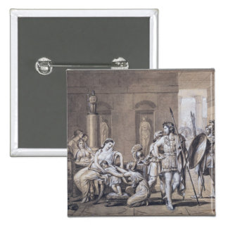The Departure of Hector, c.1812 15 Cm Square Badge