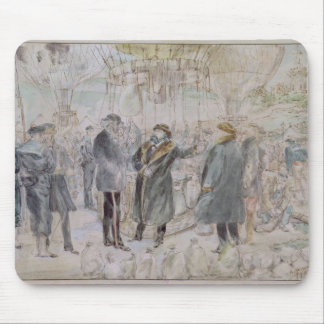 The Departure of Leon Michel Gambetta Mouse Mat