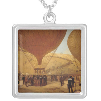 The Departure of Leon Michel Gambetta Silver Plated Necklace