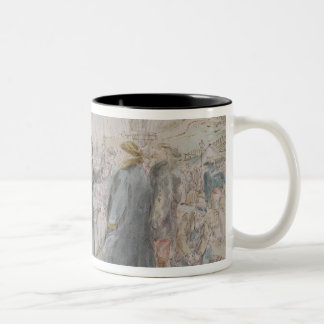 The Departure of Leon Michel Gambetta Two-Tone Coffee Mug