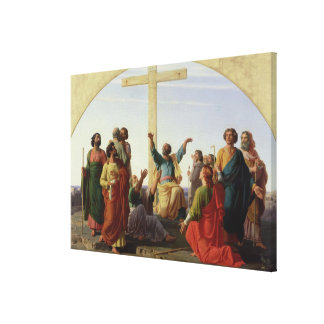 The Departure of the Apostles, 1845 Stretched Canvas Print