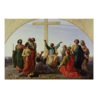 The Departure of the Apostles, 1845 Poster