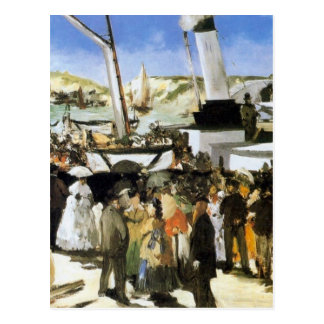 The Departure of the vapor of Folkestone - Manet Postcard