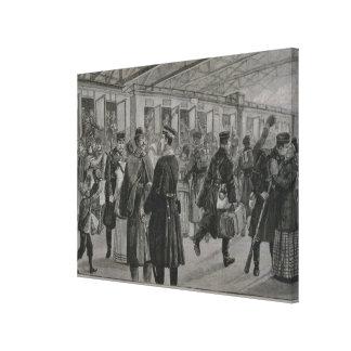 The Deployment of Kiel's Royal Marines Canvas Print