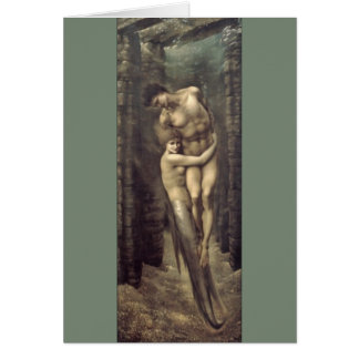 """The Depths of the Sea"", by Edward Burne-Jones Card"