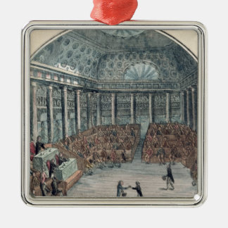 The Deputies of the Commune Meeting Silver-Colored Square Decoration