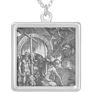 The descent of Christ into Limbo Silver Plated Necklace