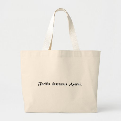 The descent to the lower world is easy tote bags