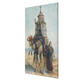 The Desert Ride, 1839 (w/c on paper) Canvas Print