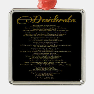 "The Desiderata ""Desired Things"" Christmas Ornament"