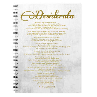"""The Desiderata """"Desired Things"""" Notebook"""