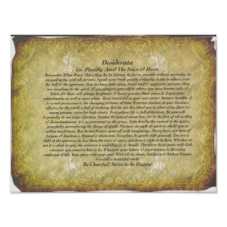 The Desiderata Poem by Max Ehrmann Poster