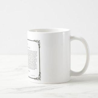 The Desiderata Poem Coffee Mug=Daily Inspiration Basic White Mug